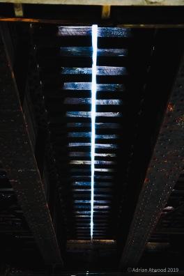Under a rail bridge in Waltham, MA 4/2019